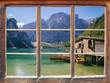 canvas print picture - Blick aus dem Fenster