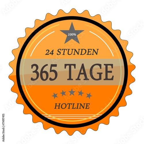 Fényképezés  ql57 QualityLabel - 24 Stunden 365 Tage Hotline - orange g2034