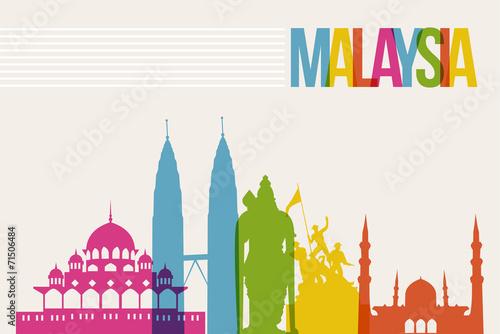 Fotografía  Travel Malaysia destination landmarks skyline background