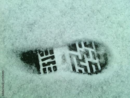 Fotografie, Obraz  Отпечаток на снегу