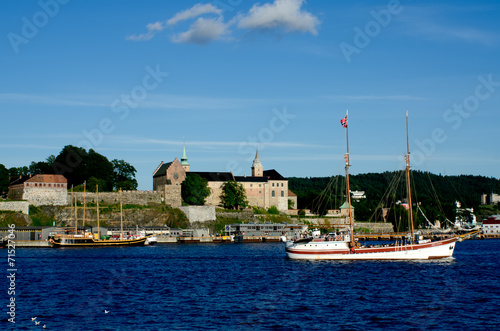 Photo  Two ships sailing in the Oslo fjord Akershus