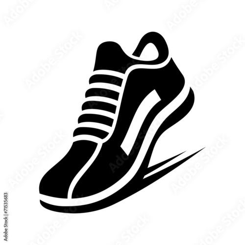 Running Shoe Icon. Vector Obraz na płótnie