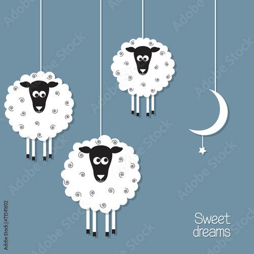 slodkie-owce-w-stylu-wycietym-z-papieru-liczenie-owiec