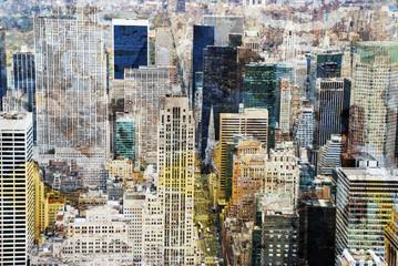Fototapeta Nowy York New York city grunge and retro style