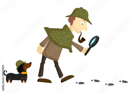 Valokuva  Detective-Plain Background