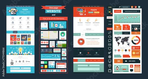 Fotografía  Website page template. Web design