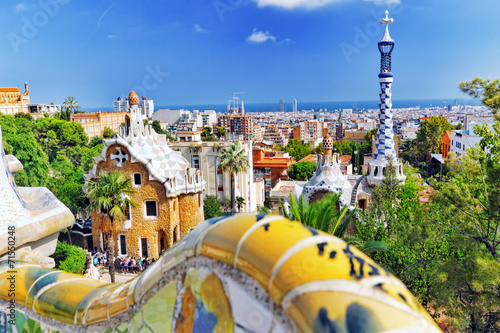Foto op Canvas Barcelona BARCELONA, SPAIN - SEPT 02,2014 :Gorgeous and amazing Park Guel