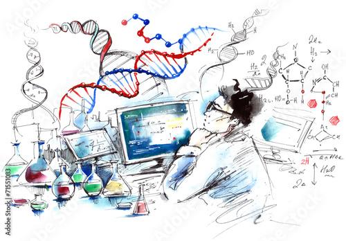 Fotografie, Obraz  science