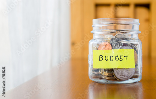 Fototapeta Budget planning and saving money obraz