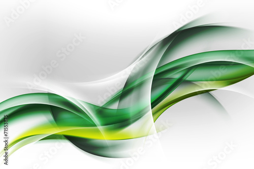 abstrakcyjne zielone fale - fototapety na wymiar