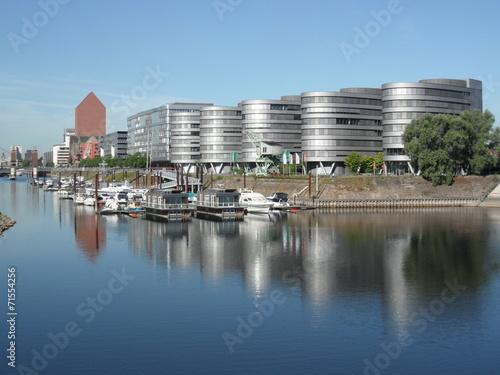Foto auf AluDibond Stadt am Wasser Duisburg - Innenhafen