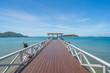 Historical white sea bridge at Sichang island, Thailand