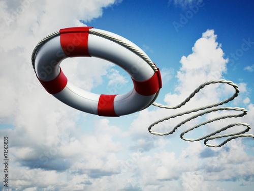 Obraz na plátně Life belt in the air