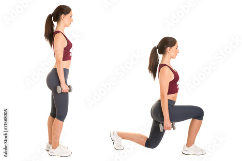 Photo Woman Doing Lunges