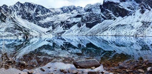 Fototapeta High Tatra Mountains Czarny Staw Gasienicowy (Black Pond) obraz