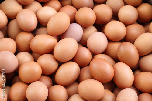 Canvas Print fresh eggs for sale at a market