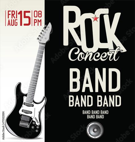 Valokuva  Rock concert poster