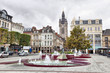 View from Place d'Armes square on Belfry of Douai