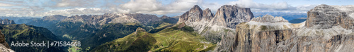 Foto op Canvas Panoramafoto s Dolomites Panorama