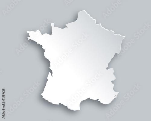 Obraz na plátně  Karte von Frankreich