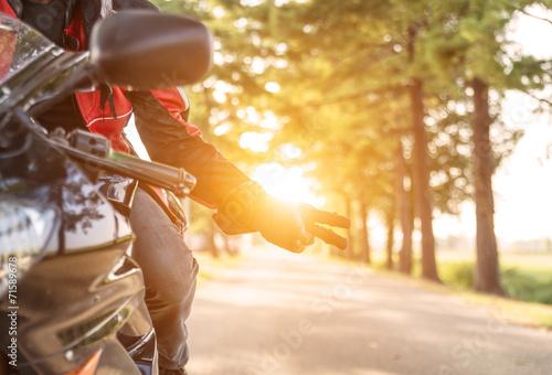 Obraz na plátne motorbike greeting