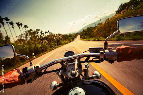 Fotobehang Fiets Motorcycle