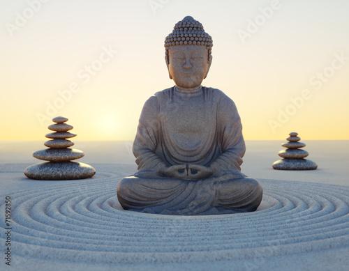 Recess Fitting Buddha Abendstimmung mit Buddha-Statue