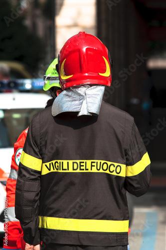 Fotografia  Corso di formazione dei vigili del fuoco