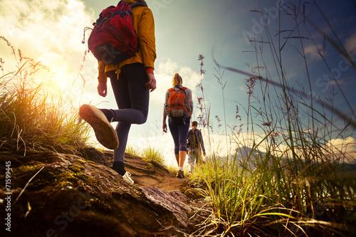 Fototapeta Hikers