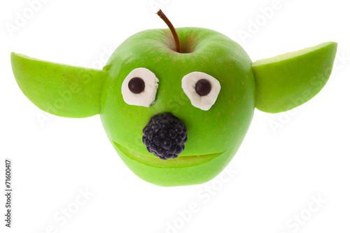 Obraz na plátně Apple - Yoda