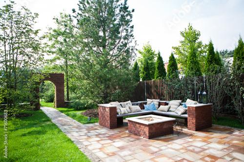 Fotobehang Tuin Место для отдыха в саду / Rest place in the garden