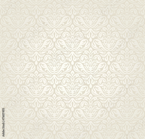Fotografie, Obraz  Bright luxury vintage wedding seamless wallpaper  background