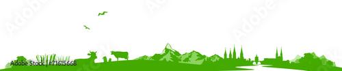 Poster Blanc Skyline Schweiz