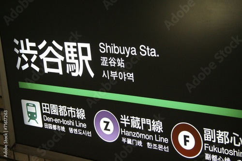 Poster Tokyo Tokyo's metro station - Shibuya