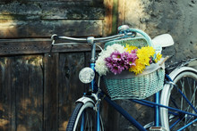 Old Bicycle With Flowers In Me...
