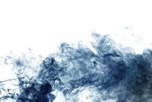 Blue Smoke On White