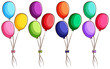 A simple coloured sketch of the balloons