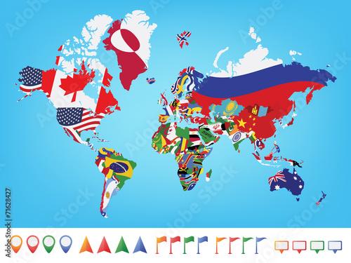 mapa-swiata-z-flaga