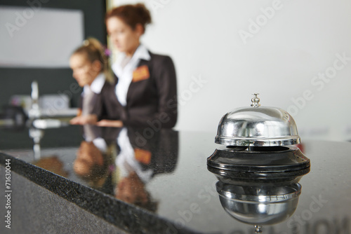 Hotel reception with bell Slika na platnu