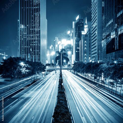 Photo  modern city at night