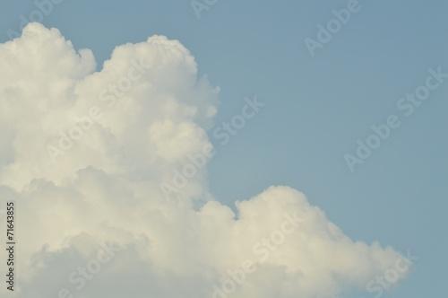 Aluminium Prints Heaven Big cloud and blue sky