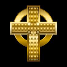 Vector Illustration Of A Golden Cross