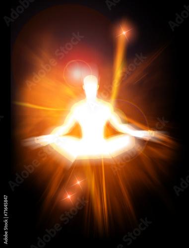 Fotografie, Obraz  Concept illustration of positive energy and enlightenment