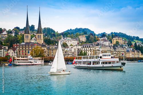 Photographie  Paysage urbain de Lucerne, Suisse