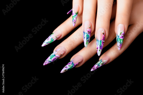 Art design female nails. Wallpaper Mural