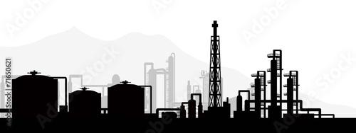 Fototapeta Oil and gas refinery-vector obraz