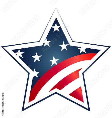 Star Usa Flag Illustration Vector Icon Symbol Logo Buy This Stock