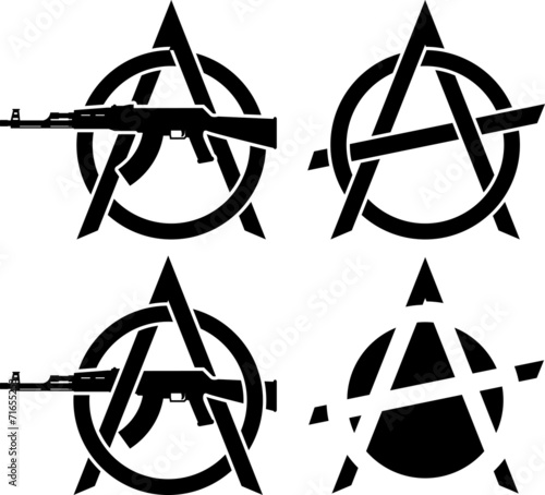 Fotografia Symbols of anarchy