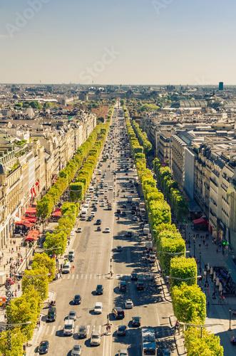 Fotografie, Obraz  Champs Elysees boulevard