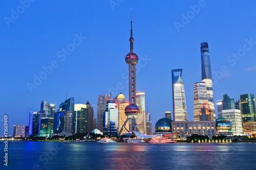 Foto op Aluminium Shanghai Shanghai city scenery at night
